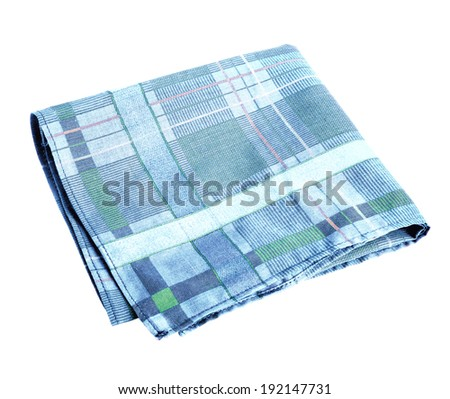 Studio photography of nose rag - isolated on white background