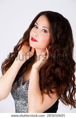 studio picture of a beautiful girl, portrait