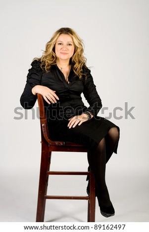 Studio portrait of a business lady - stock photo