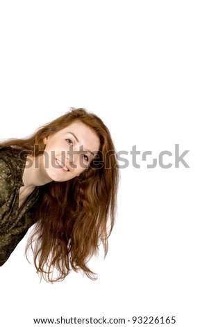 Studio portrait of a lady - stock photo