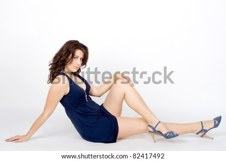 Studio portrait of a sexy girl - stock photo