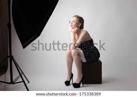 studio shoot - stock photo