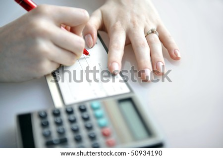 Studio shoot of bussines situation - stock photo