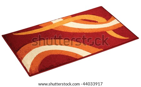 Studio shot of a doormat, isolated on a white background. - stock photo