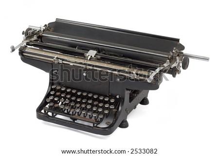 Studio shot of a old typewriter. - stock photo