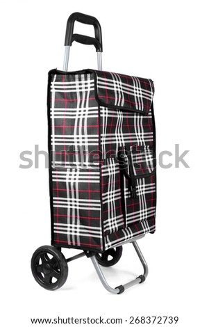 Studio shot of a trolley shopping bag - stock photo