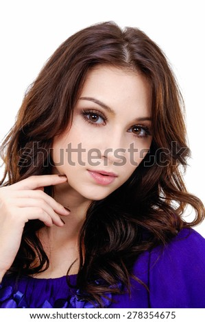 Studio shot of a young fashionable woman - stock photo