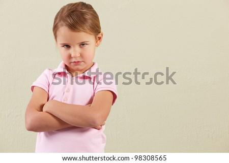 Studio Shot Of Angry Young Girl - stock photo