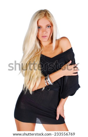 Studio shot of glamour model - stock photo