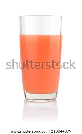 Studio shot of grapefruit juice isolated on white background - stock photo