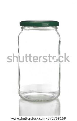 Studio shot of jar on white background - stock photo