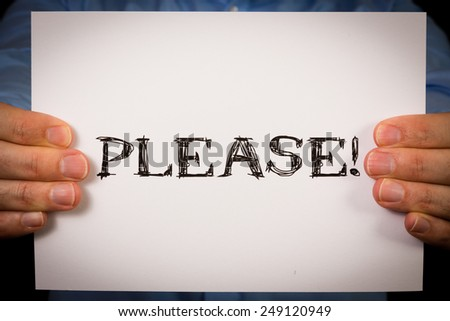 Please Word Images Word Please Stock Photo