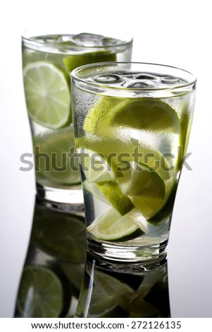 Studio shot of mojito drink - stock photo
