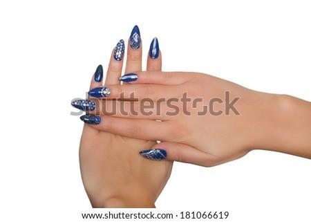 Studio shot of nails - stock photo