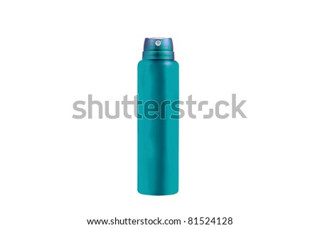 Studio shot of spray can isolated on white - stock photo