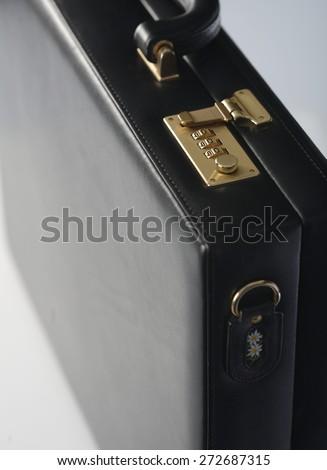 Studio shot of suit case  -close-up - stock photo