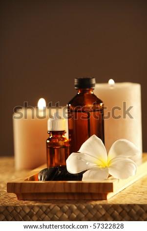 studio shot of the concept aromateraphy - stock photo