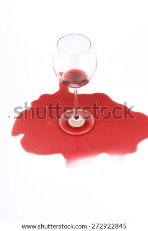 Studio shot of wine stain - stock photo