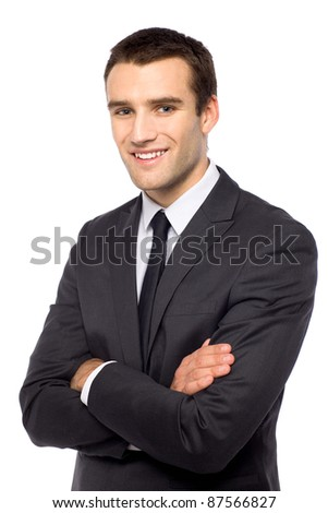 Studio shot of young businessman