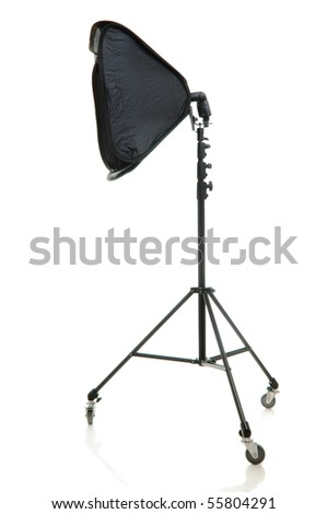 Studio stand isolated over white