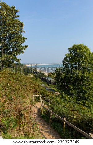 Studland coast and bay Dorset England UK located between Swanage and Poole and Bournemouth  - stock photo