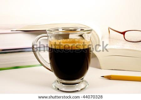 Study Break with Espresso - stock photo