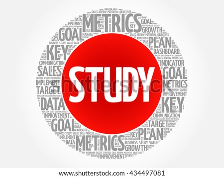 Study circle word cloud, business concept background - stock photo
