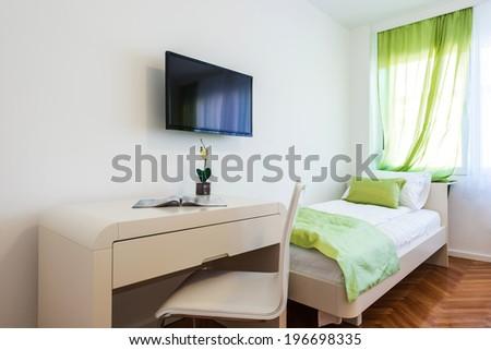 study desk in room - stock photo