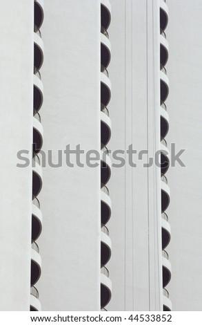 Study in conformity: detail of high-rise condominium - stock photo