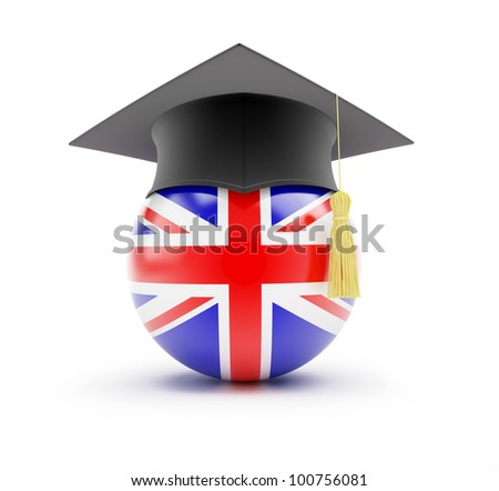 Study in England, learning English - stock photo