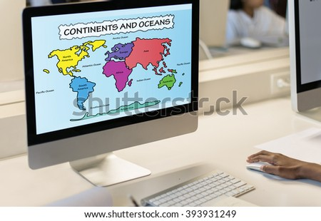 Study Studying Learn Learning Classroom Internet Concept - stock photo