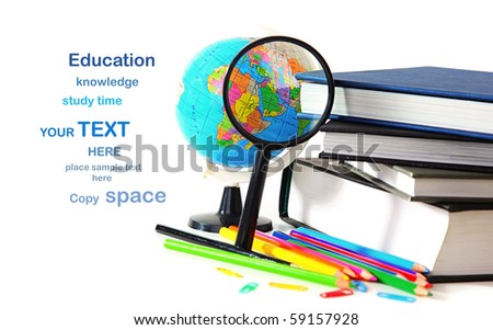 Study time conceptual image of education & knowledge - stock photo