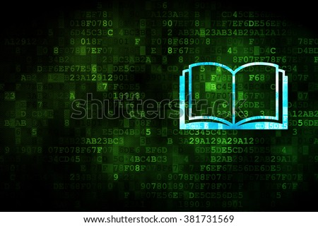 Studying concept: Book on digital background - stock photo