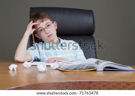 Studying for Finals - stock photo