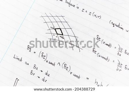Studying math - stock photo