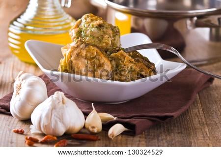 Stuffed artichokes. - stock photo