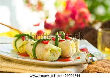Stuffed Cabbage - stock photo
