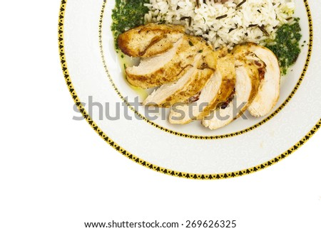 stuffed chicken breast  - stock photo