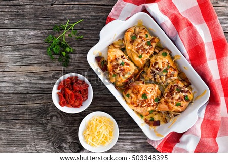 ... tomatoes rabbit meat baked with tomatoes peppers olives parsley and