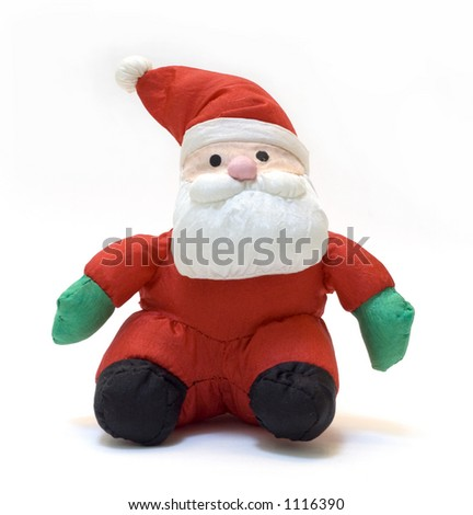Stuffed cloth Santa Claus doll. - stock photo