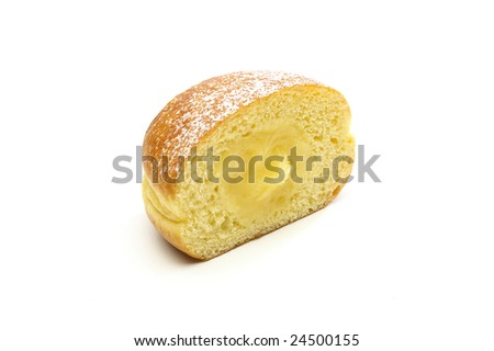 Stuffed krapfen isolated on a white background - stock photo