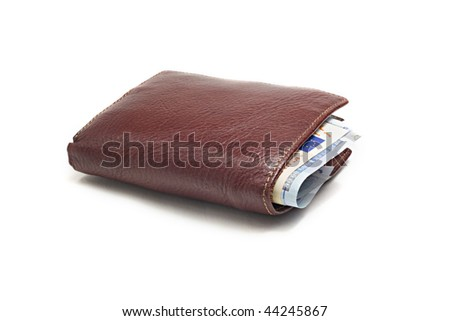Stuffed Leather Wallet - stock photo