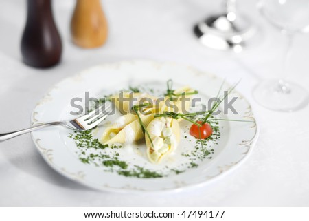 stuffed pasta - stock photo
