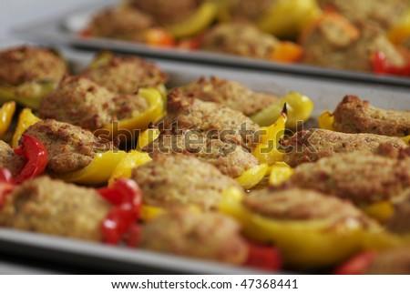 stuffed pepper - stock photo