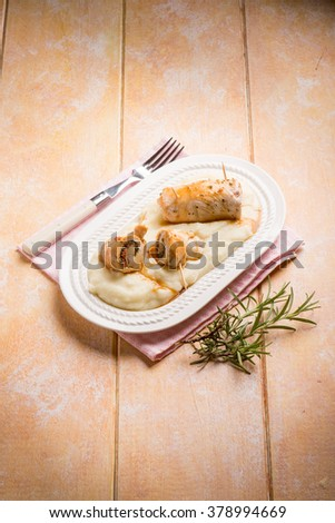 stuffed roll - stock photo