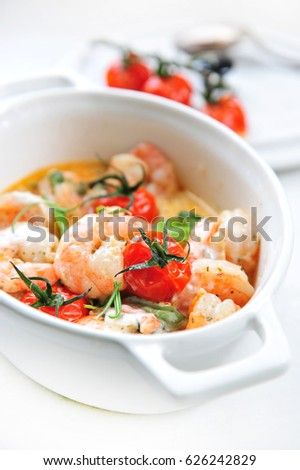 stuffed shrimps with herbs