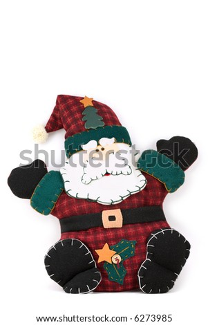 Stuffed toy of santa claus for Christmas - stock photo