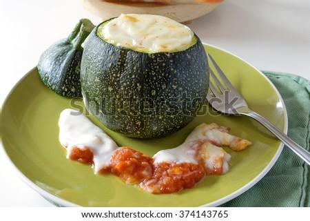 Stuffed Zucchini - stock photo
