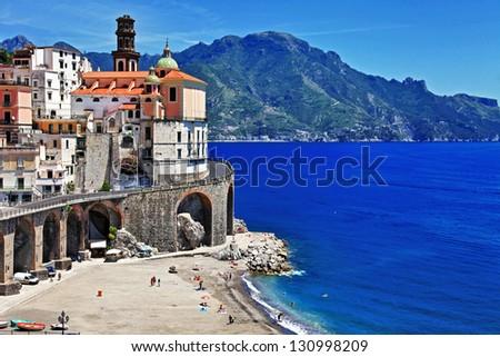 stunning Amalfi coast - Atrani. Italy - stock photo