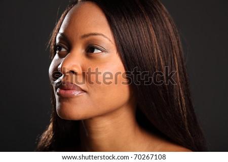 Stunning beautiful black woman - stock photo